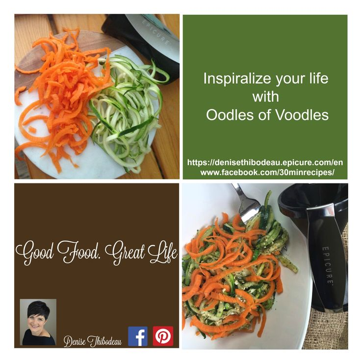 Order your #Spiralizer now at:  https://denisethibodeau.epicure.com/en ... Redesign your dinner, the possibilities are endless!
