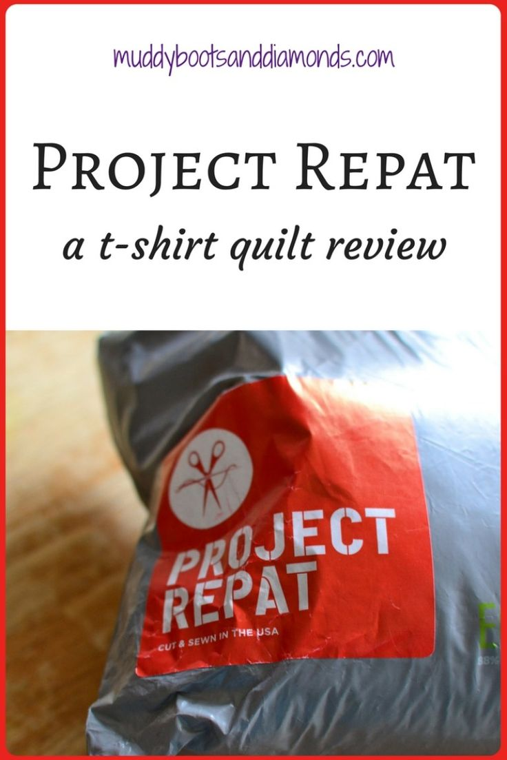 Project Repat: A T-Shirt Quilt Review + Coupon Code   Pros and Cons of hiring a business to make your t-shirt quilt via muddybootsanddiamonds.com