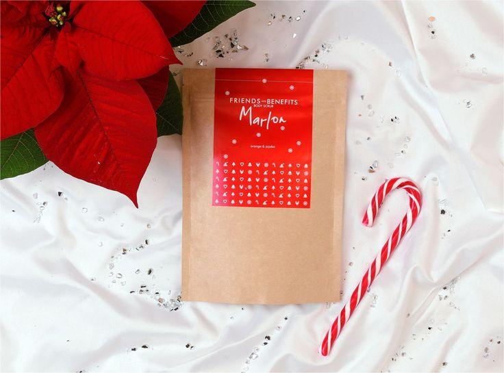 Friends with Benefits | Marlon body scrub | xmas | Happy Brand Makers | feeling good