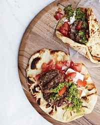 Lamb Burgers with Green Harissa by Grace Parisi, foodandwine #Lamb_Burger #Harissa #foodandwine