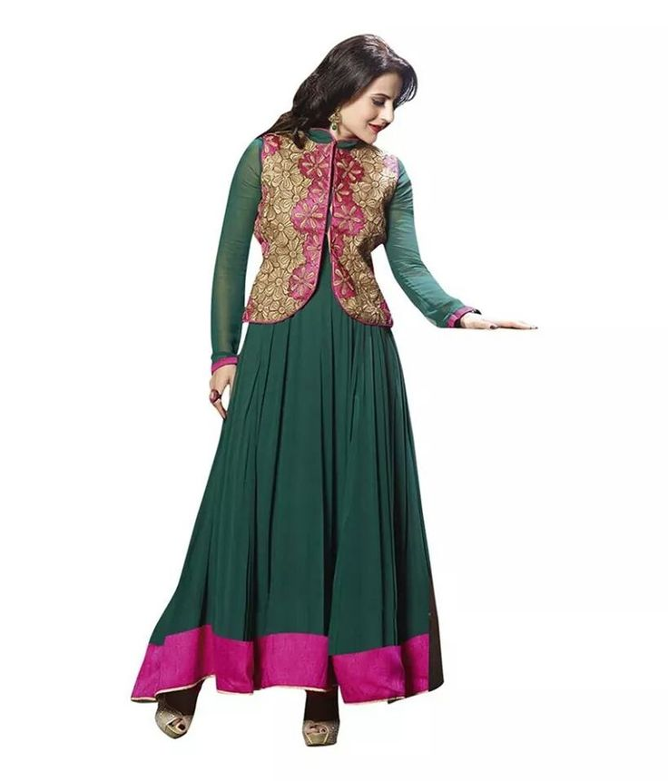 Hello! I thought you might be interested in Semi-Stitched Green Anarkali with Jacket from The Magical Thread http://themagi1.limeshop.in/products/1402