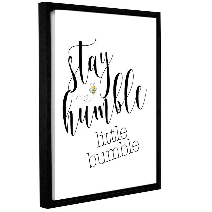 ArtWall Tara Moss's 'Stay Humble Little Bumble' Gallery Wrapped Floater-framed Canvas