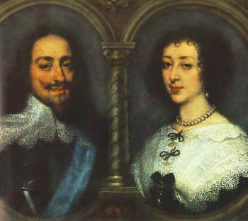 These are Charles I Stuart, King of England and Scotland, and his consort, Henrietta Maria of France.