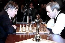 Anatoly Karpov y Gary Kasparov