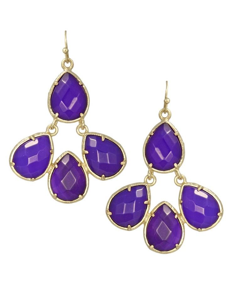 Courtney Earrings in Purple. #KendraScott