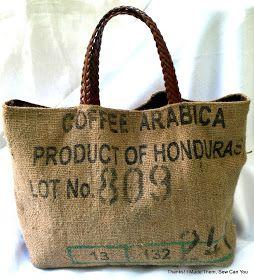 Thanks! I made them!: Coffee Bean Sacks Repurposed into Handbags.