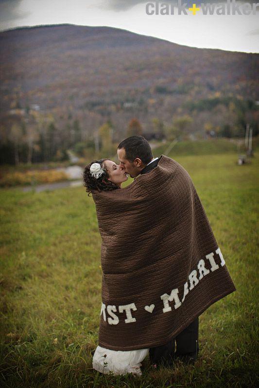 Boda de invierno: manta