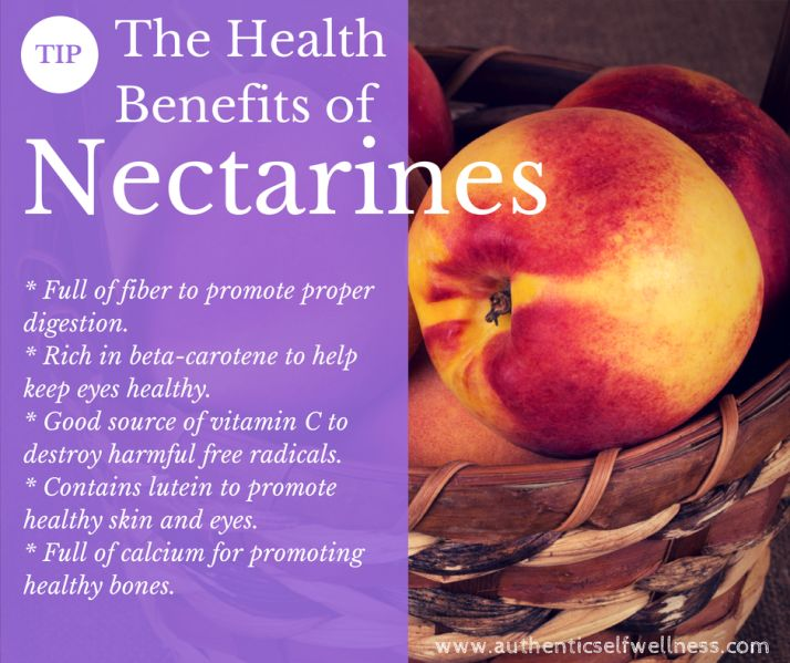 The Health Benefits of Nectarines #plantbased #diet #health
