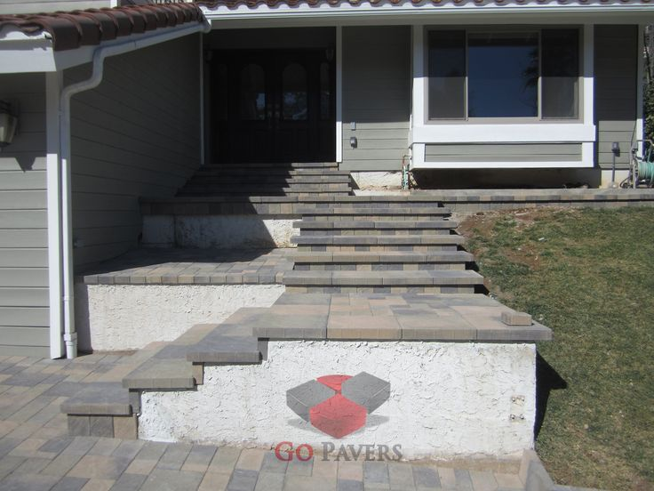 14 best images about steps and pillars projects go for Sloped driveway options
