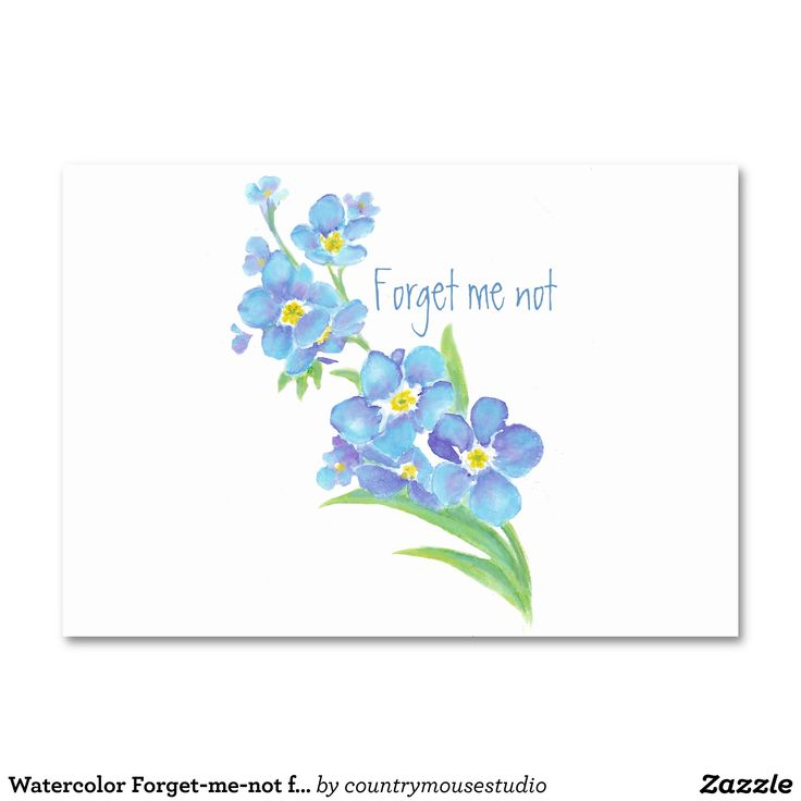 Watercolor Forget-me-not flower Pretty blue floral Table Cards