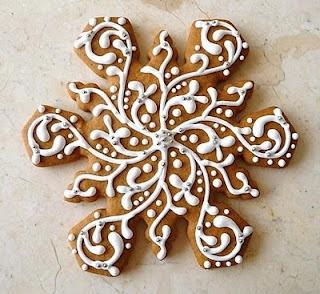 Snowflake cookie from the U.S. Snöflingekaka från USA