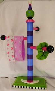 The Decorative Paintbrush, Designs by Mary Mollica: Hair Tie Holders