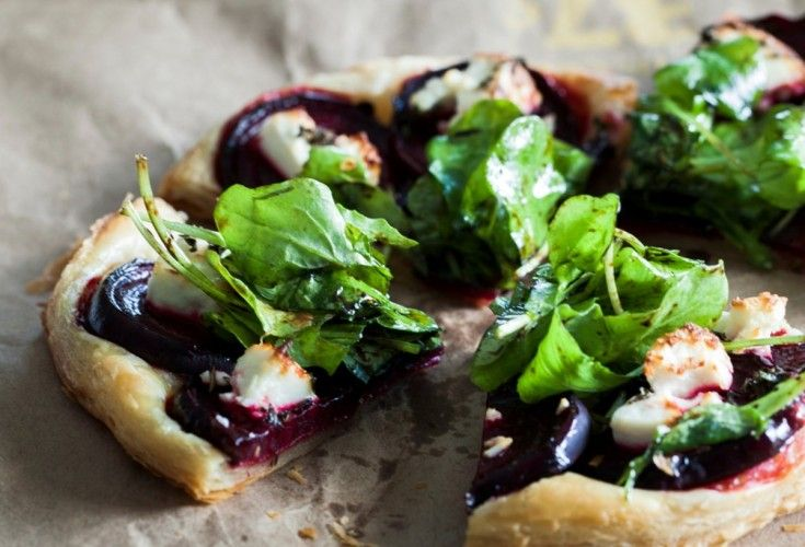 Beetroot, Thyme and Goats Cheese Tart - Nadia Lim
