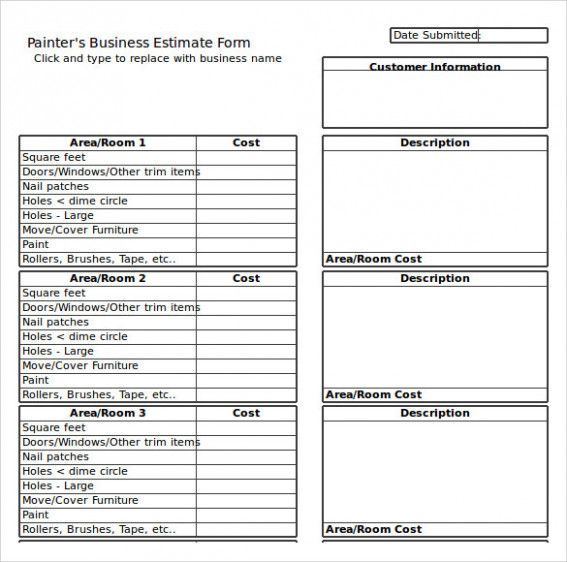 Five Benefits Of Painting Estimate Template Excel That May Change