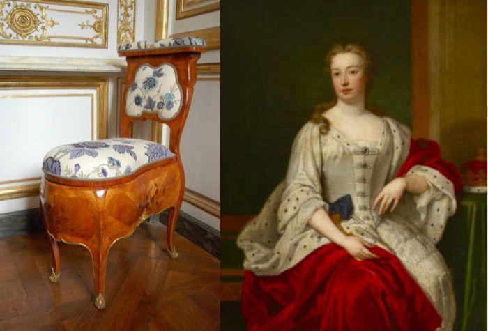 Элизабет Сеймур, герцогиня Сомерсет - хранительница стула королевы Анны.