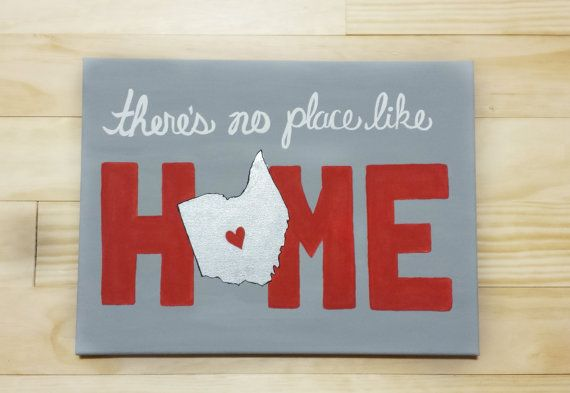college wall art Ohio State/Columbus There's No Place Like Home  Gray by Charmify