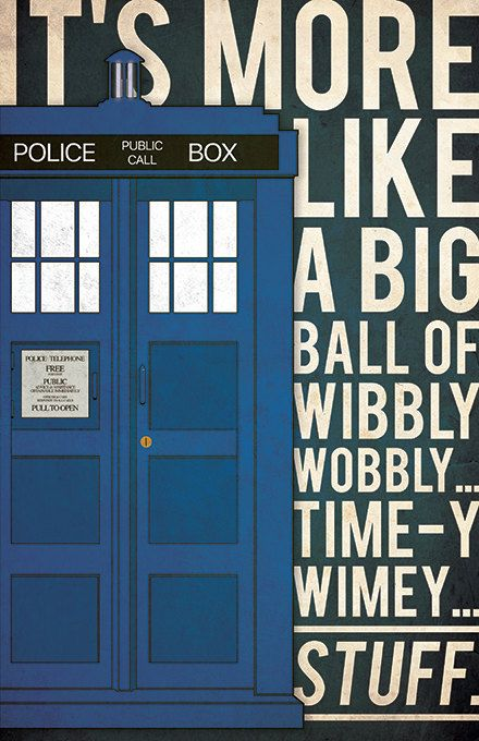 Doctor Who poster Tardis poster Doctor Who alternative poster
