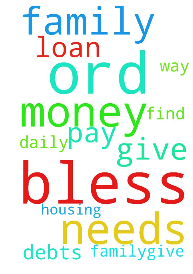 ord I'm praying to you, please bless me and my family.give - ord Im praying to you, please bless me and my family.give me a way to find money for our daily needs and to pay my debts and my housing loan. Thank you Lord, in Jesus Christ name we pray, amen. Posted at: https://prayerrequest.com/t/ylL #pray #prayer #request #prayerrequest
