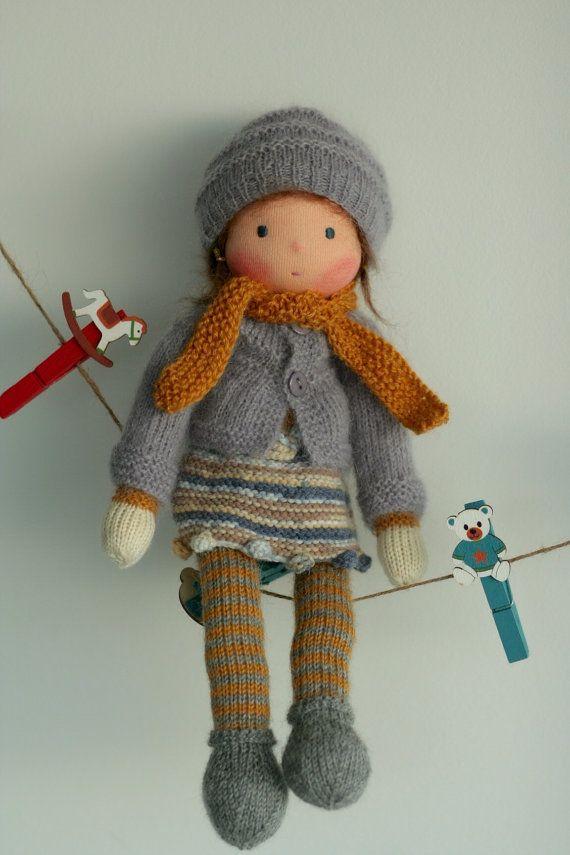 Waldorf knitted doll Yolanda 13 by Peperuda by danielapetrova