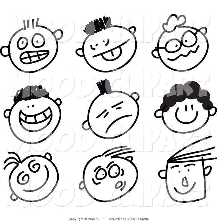 how to draw stick figures with faces
