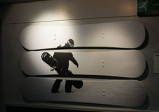 Ride Revival snowboarder wall art at the Tamworth SnowDome