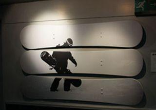 Ride Revival snowboarder wall art at the Tamworth SnowDome