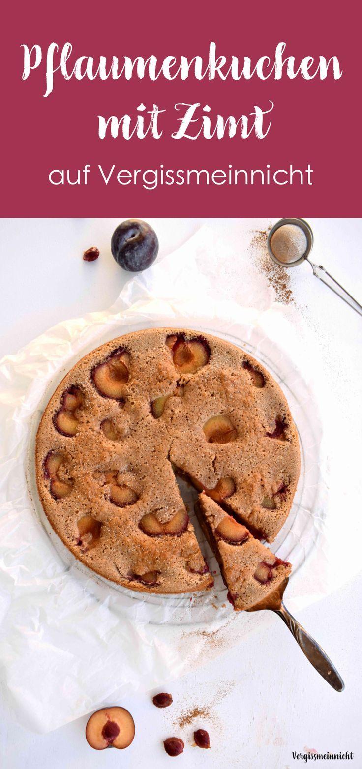 Einfachen Pflaumenkuchen mit Zimt backen. Der Rührteig ist sehr saftig durch die Buttermilch und ohne Hefe. Das Rezept ist schnell selbst gebacken und gesund durch das Dinkel Mehl.