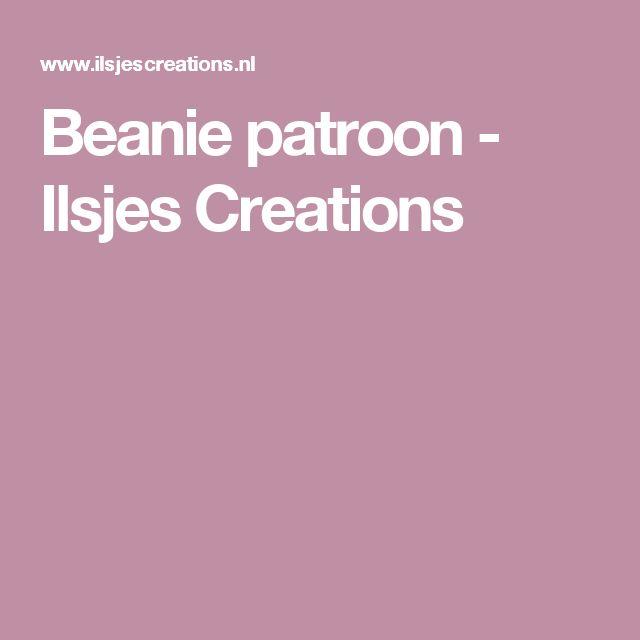 Beanie patroon - Ilsjes Creations