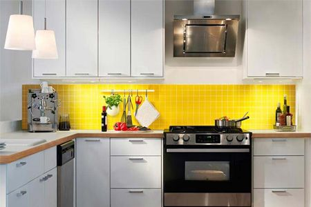kitchen blacksplash bright backsplash pinterest home yellow and