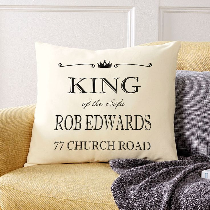 King of the Sofa: Beautiful💕Personalised Cushions. Easy to Create & Preview On Screen Before You Buy. A perfect gift for any occasion. Fast Free Delivery.⠀⠀