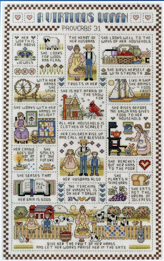 A Virtuous Woman - A Janlynn counted cross stitch kit