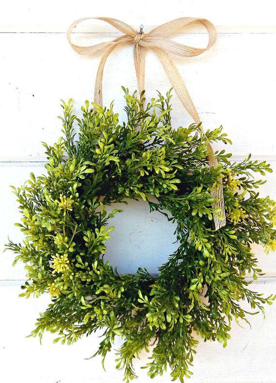 Mini Window Wreath Tea Leaf Wreath Mini Farmhouse Etsy Window Wreath Small Wreaths Cottage Wreath