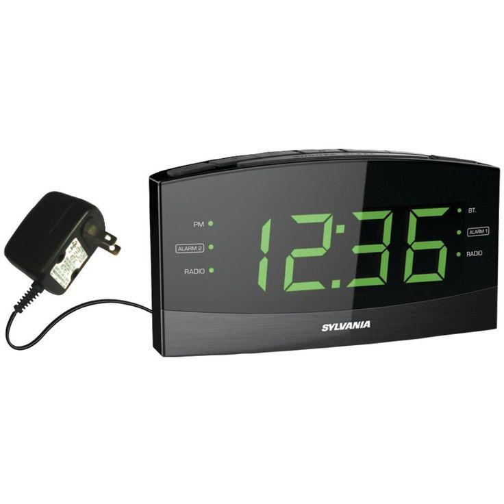 "Sylvania 1.8"" Jumbo Digit Alarm Clock Radio With Bluetooth"