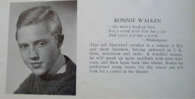Christopher Walken's Senior Yearbook Photo