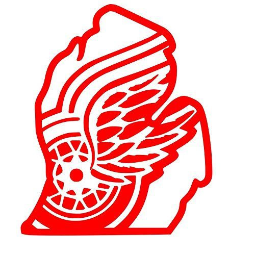 detroit red wings inside michigan outline sticker decal