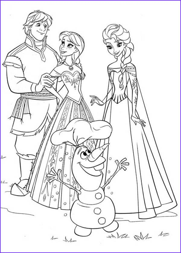 Anna Elsa Kristoff And Olaf Coloring Page Coloring In 2020 Princess Coloring Pages Frozen Coloring Frozen Coloring Pages