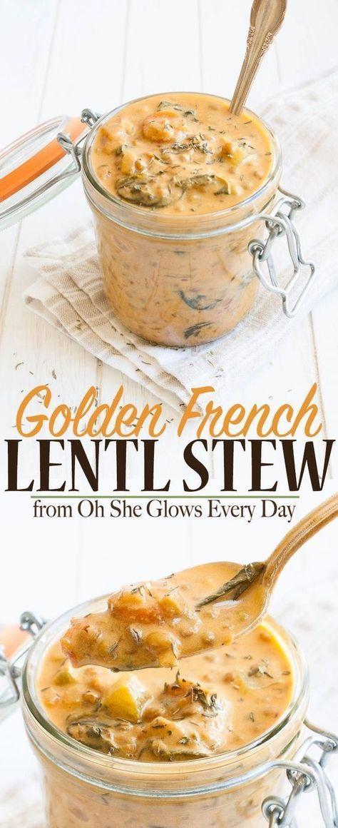 Vegan Lentil Stew | www.veggiesdontbi... | #vegan #plantbased #glutenfree #ohsheglowseveryday via @Veggies Don't Bite