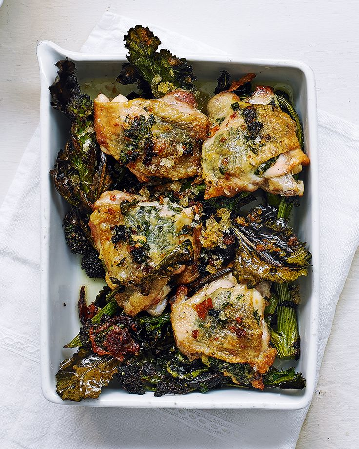 Easy-to-make and packed full of flavour – this chicken thigh tray-bake recipe is effortless dinner for two.
