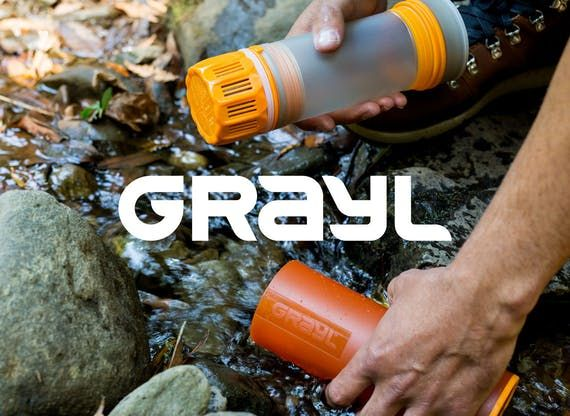 Shop online Grayl at Huckberry for their bestselling Ultralight Purifier Water Bottles. Winner of Outside Magazine's Gear of Year Award. Free Shipping on US orders $98+ & free returns.