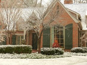 What color spouting on a orange brick house - Google Search