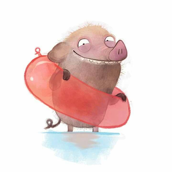 illustration zeichnung drawing pig schwein