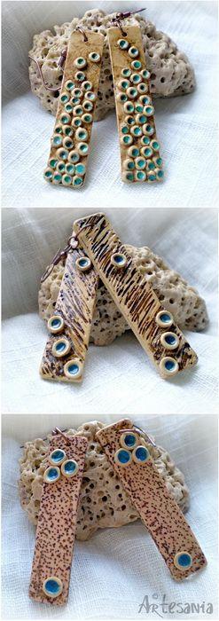 SEA FLOWERS - Polymer Clay Earrings by Studio Artesania