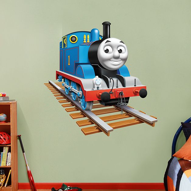 thomas the tank engine fathead thomas the train decor for bryce 39 s. Black Bedroom Furniture Sets. Home Design Ideas