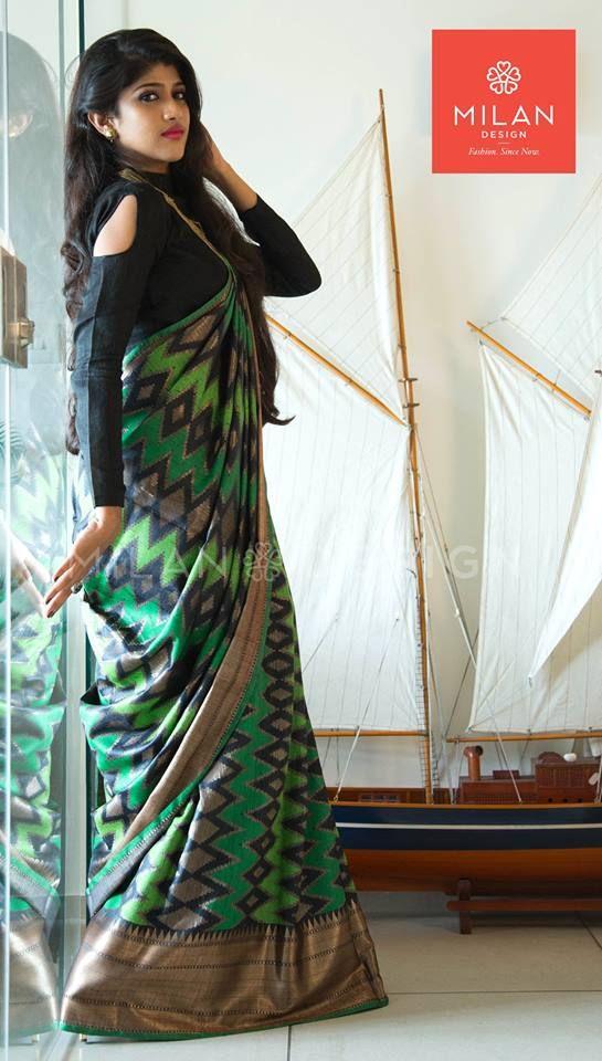 Banaras Saree from Milan Design Kochi #MilanDesignKochi #DesignerSaree #Kancheepuram #BanarasSaree #Kerala #Kochi #India