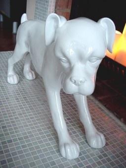Another Cute White Ceramic Dog Statue Idea Boxer 125