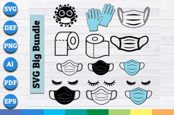 Mask Toilet Paper Hand Gloves Bundle Graphic By Aartstudioexpo Creative Fabrica In 2020 Hand Gloves Graphic Design Pattern Brochure Design Template