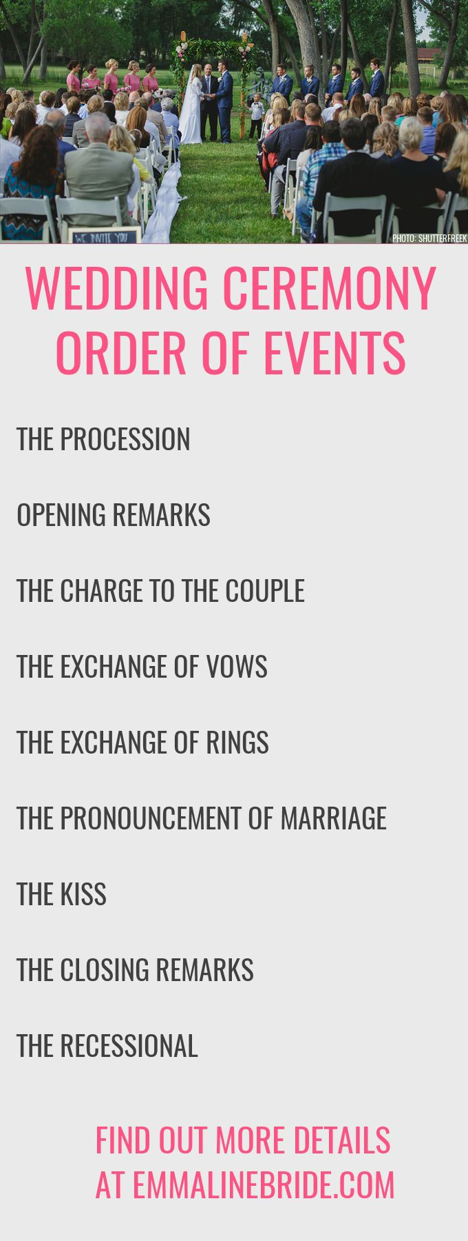 Wedding Ceremony Order Of Events