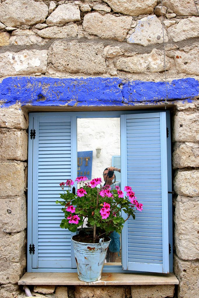 Blue Window, Alacati, Izmir, Turkey
