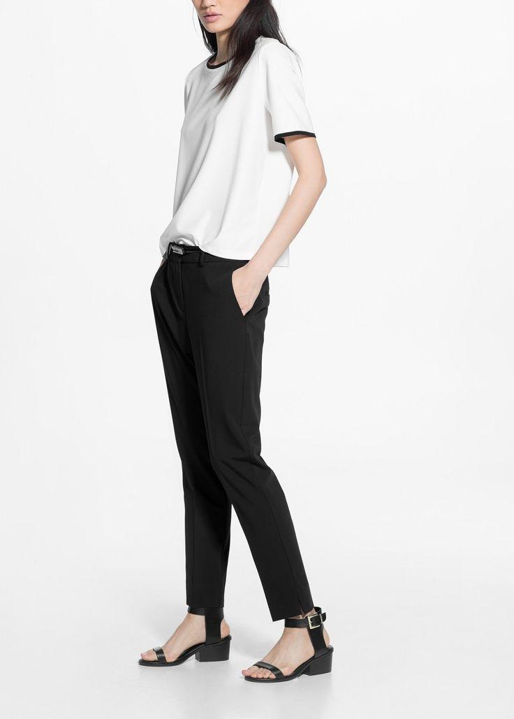 Suit slim-fit trousers -  Women | MANGO