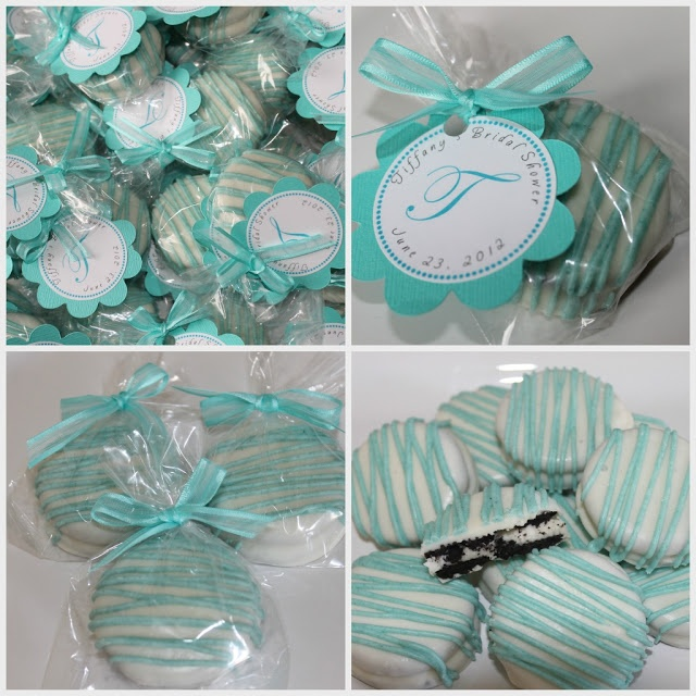 dipped oreos ... adjust color for any holiday or party theme ... brilliant :)